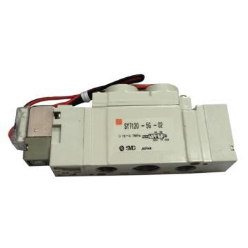 SMC 5通袖珍电磁阀,直接配管 SY7120-5GD-02,额定电压DC24V
