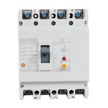 正泰CHINT 塑殼漏電斷路器,NM1LE-125S/4300 100A 30mA