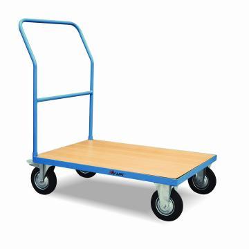 虎力 木制台面平板推车,载重:500kg,台板尺寸:1200*800mm
