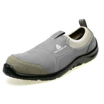 代尔塔DELTAPLUS 松紧系列安全鞋,301216-41,防砸防刺穿防静电 灰色