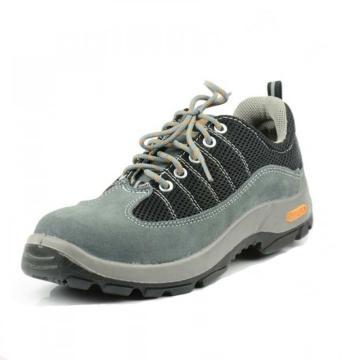 代尔塔 彩虹系列双钢安全鞋,防砸防刺穿防静电,灰黑,45,301322
