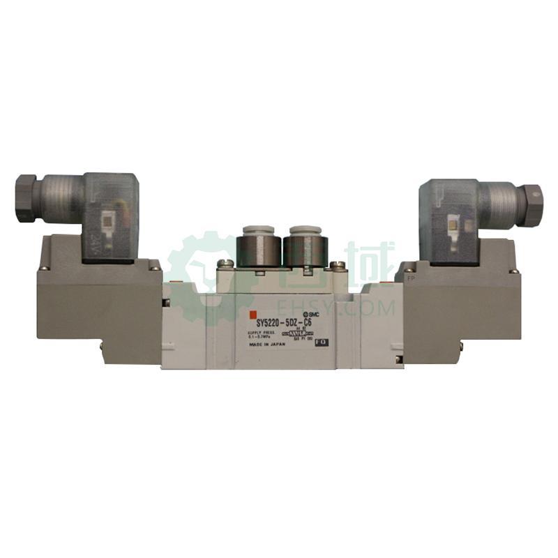 sy5000系列直接配管单体式电磁阀,3位5通中泄式,sy5420-5dzd-c6图片