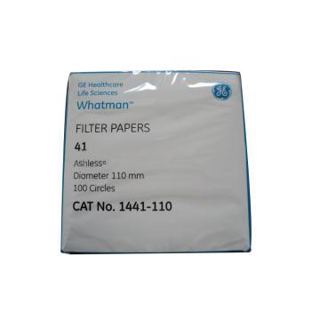 Whatman定量滤纸,无灰级,GR,41,11CM,100/PK