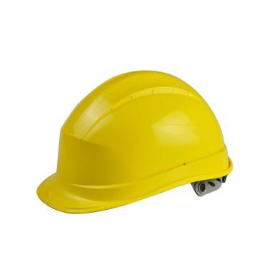 代尔塔 102008-JA 抗紫外线安全帽,黄,旋钮式(不含下额带,推荐下颚带型号:102021)