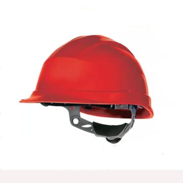 代尔塔 102008-RO 抗紫外线安全帽,红,旋钮式(不含下额带,推荐下颚带型号:102021)