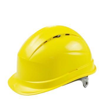 代尔塔 102012-JA 抗紫外线安全帽,黄,插片式(不含下额带,推荐下颚带型号:102021)