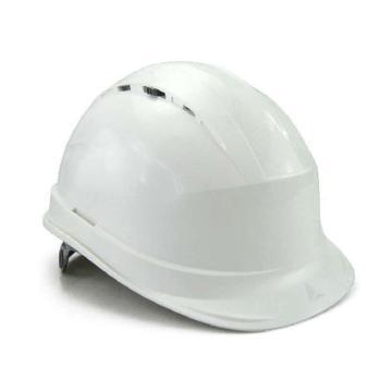 代尔塔DELTAPLUS 安全帽,102012-BC,抗紫外线安全帽 白 插片式(不含下额带,推荐下颚带型号:102021)