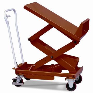 虎力 可倾斜式脚踏式升降平台车,载重(kg):150 台面尺寸(L*W):830*500mm,BL15