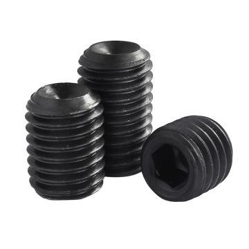 内六角凹端紧定螺钉,12.9级, DIN916,M4-0.7×6 发黑 250个/包