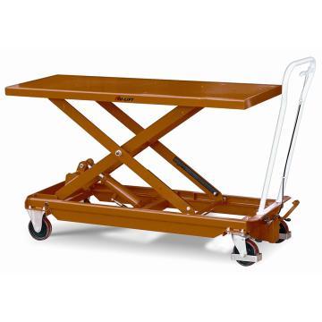 虎力 大台面脚踏式液压升降平台车,载重(kg):500,起升范围(mm):400~1000