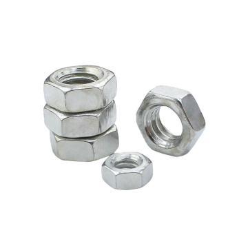 DIN934六角螺母,M4-0.7,碳钢4级,本色,2000个/包
