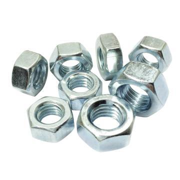 DIN934六角螺母,M4-0.7,碳钢4级,蓝白锌,2000个/包