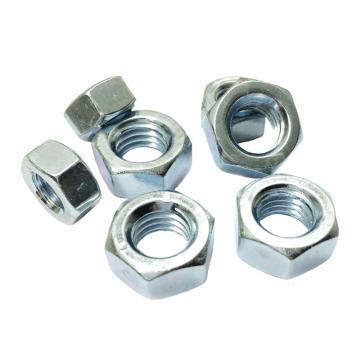 DIN934六角螺母,M6-1.0,碳钢8级,蓝白锌,1000个/包