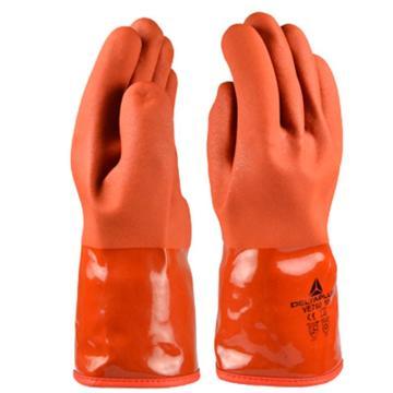 代尔塔 PVC防寒硫化手套,-30℃,红色,10#,201760