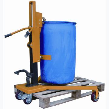 虎力 经济型液压油桶搬运车,载重350KG直角支腿四轮型,DTF350RA