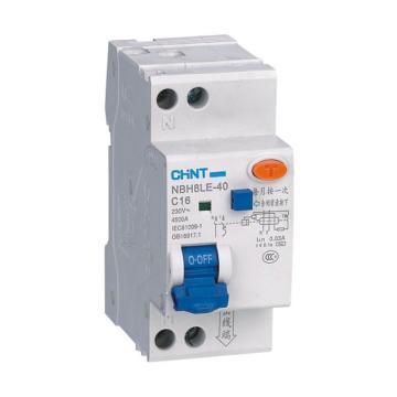 正泰 微型漏电保护断路器,NBH8LE-40 1P+N C6A 30mA