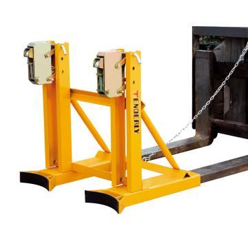 双桶单夹型叉车属具含橡胶垫,配安全链 720Kg
