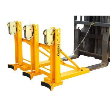泰得力 叼扣式叉车专用油桶搬运夹(经济通用型),额定载重:1080Kg(总共),水平3桶, 360Kg*水平3桶