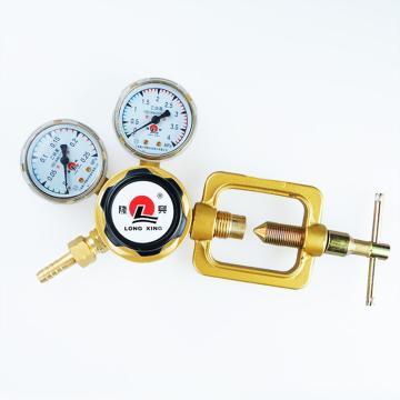 隆兴乙炔减压器,全铜主体氧气减压阀,双级式,M60/862