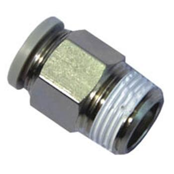 亚德客螺纹直通,螺纹R1/4,接管外径6mm,PC6-02