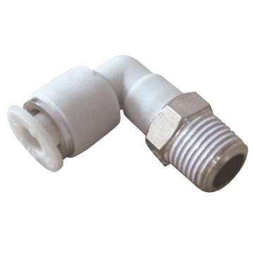 亚德客AirTAC L型螺纹二通,螺纹R1/8,接管外径8mm,PL8-01