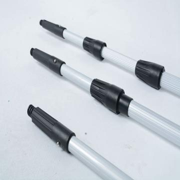 铝合金伸缩三节杆3.6米黑色