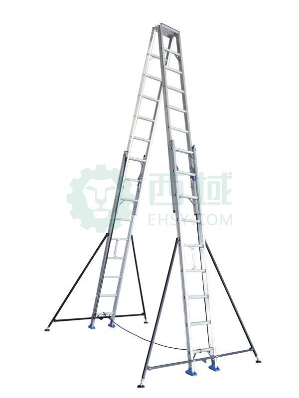 宝富 铝合金双面升降梯,缩长(m):3.9,全长(m):6.0