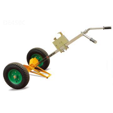 泰得力 油桶搬运小车 450Kg 2轮型 ) 镀铬手把 400-8充气橡胶大轮 鹰嘴高度可按桶高调节,DE450C