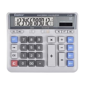 齊心 計算器, 舒適電腦按鍵 白C-2135 單位:個