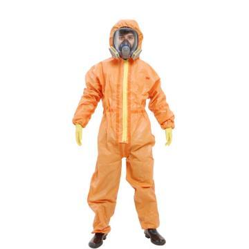 3M 4690 橙色带帽连体防护服,XXL