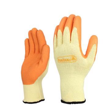 代尔塔DELTAPLUS 乳胶涂层手套,201730-10,乳胶涂层抗撕裂手套,VE730