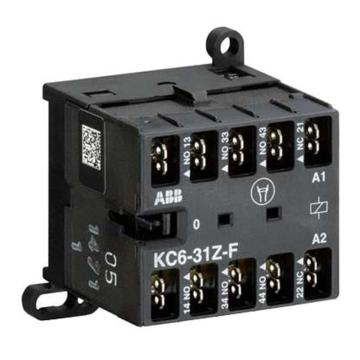 ABB 四极直流线圈中间继电器,KC6-40E-F(DC220-240V)
