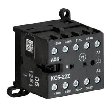ABB 四极直流线圈中间继电器,KC6-22Z*110-125VDC