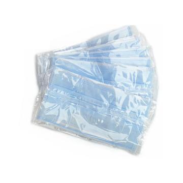 冠桦G-203(蓝*独) 一次性三层无纺布口罩,蓝色,单个独立包装,50只/盒
