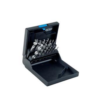 伯爵 钻头丝锥套装,M3-12,螺旋槽型,蓝圈(耐磨钢用),14件/盒