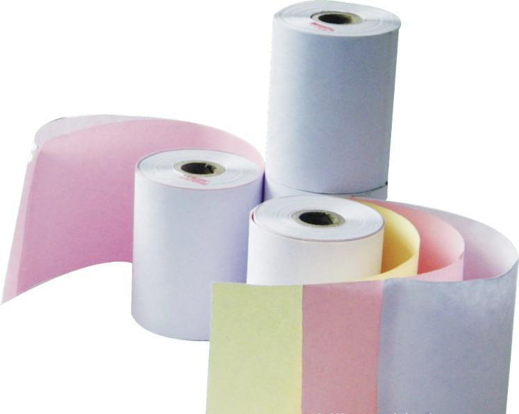 金鳳 打印收銀紙,75*60彩色三聯 60卷/箱 單位:箱