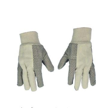 代尔塔 208007-10 PVC点塑棉质手套,12副/打