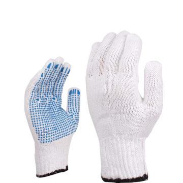 代尔塔 208006-9 涤棉针织点塑手套,12副/打