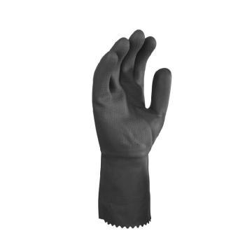 代尔塔 201530-10 氯丁橡胶手套,黑色