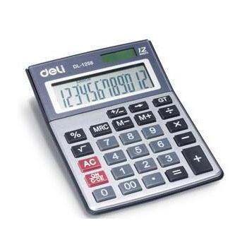 得力桌上型计算器,灰色  1258