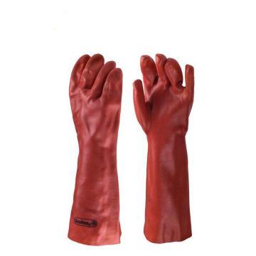 代爾塔DELTAPLUS PVC防化手套,201402,防微生物加強硫化PVC手套 40cm
