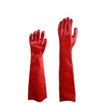 代爾塔DELTAPLUS PVC防化手套,201601,防微生物加強硫化PVC手套 60cm