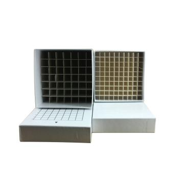 纸质冷冻盒,用来存放2ml,64孔,12个/箱