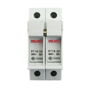 德力西DELIXI 熔断器底座,RT18-32 2P 座(白色),RT1832Z2B
