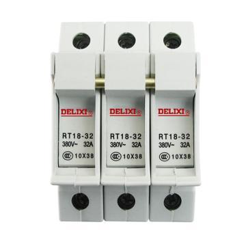 德力西DELIXI 熔断器底座,RT18-32X 3P 座(白色),RT1832Z3XB