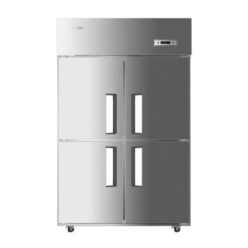 海尔 立式四门二藏二冻商用厨房大冰箱,SL-1020C2D2,1020L,打木架包装