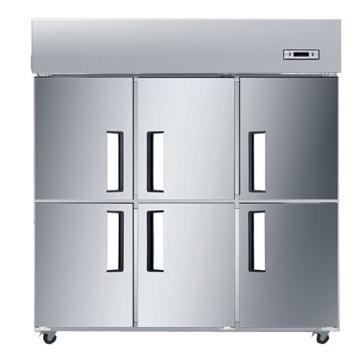 海尔 立式六门三藏三冻商用厨房大冰箱,SL-1450C3D3,1020L,打木架包装