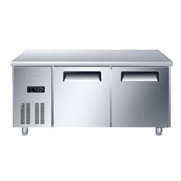 海尔 不锈钢1.5米长冷藏保鲜厨房操作台,SP-330C2,330L。木架包装