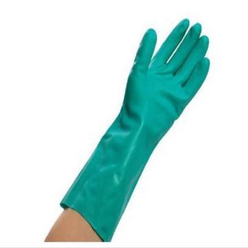 金佰利 25622-M G80 绿色丁腈防化手套,12副/袋,1袋/箱