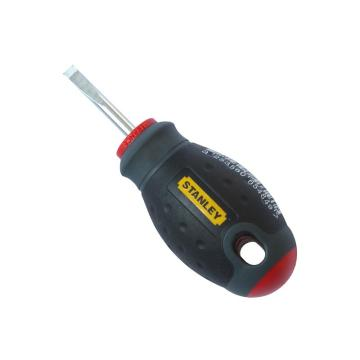 史丹利三色柄一字螺丝刀6.5X30mm, 65-404-14